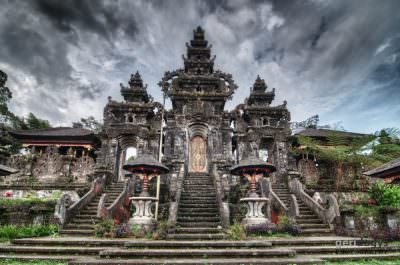 The Mother Temple of Besakih is a big complex of smaller temples scatered around on Mount Agung slopes.