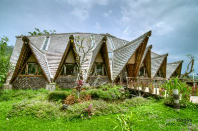 Eco tourism is catching up in Bali. Here is Eco Lodge near Plaga village.
